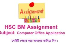 HSC BM Computer Office Application Assignment