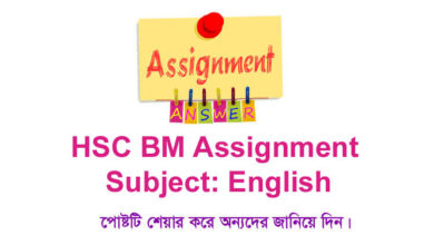 Class 12 HSC BM English Assignment Answer