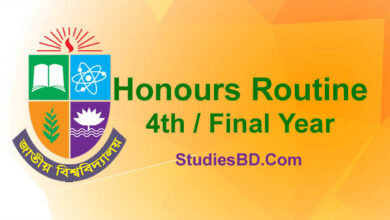 Honours 4th Year Routine