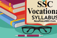 ssc voc and dakhil voc Short Syllabus 2021