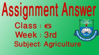 Class 6 3rd week Agriculture assignment